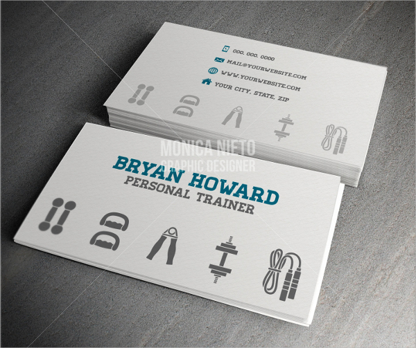 Premade Fitness Business Card