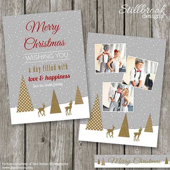 Premium Christmas Card Template Photo Card PDF Format