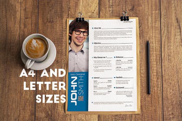 Premium Download Professional Resume Set 2 in PSD