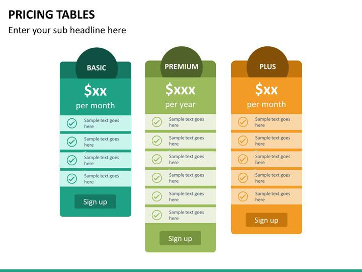Premium Pricing Tables Google Slides Template