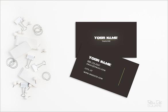 Premium Printable Black Business Card