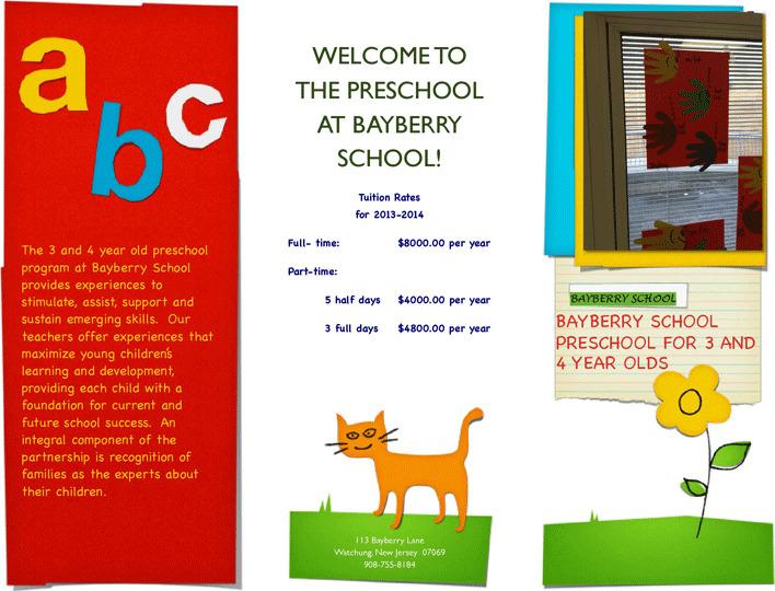 Preschool Brochure 1