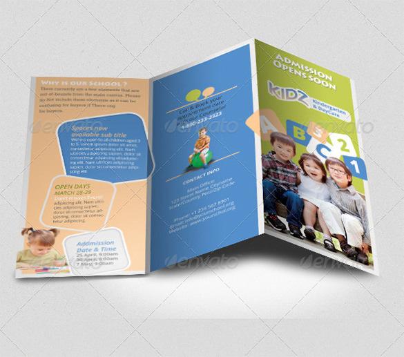 Preschool Trifold Brochure