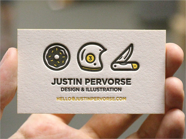 Pretty Debossed Business Card