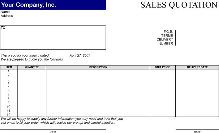 Sales Quotation Template3