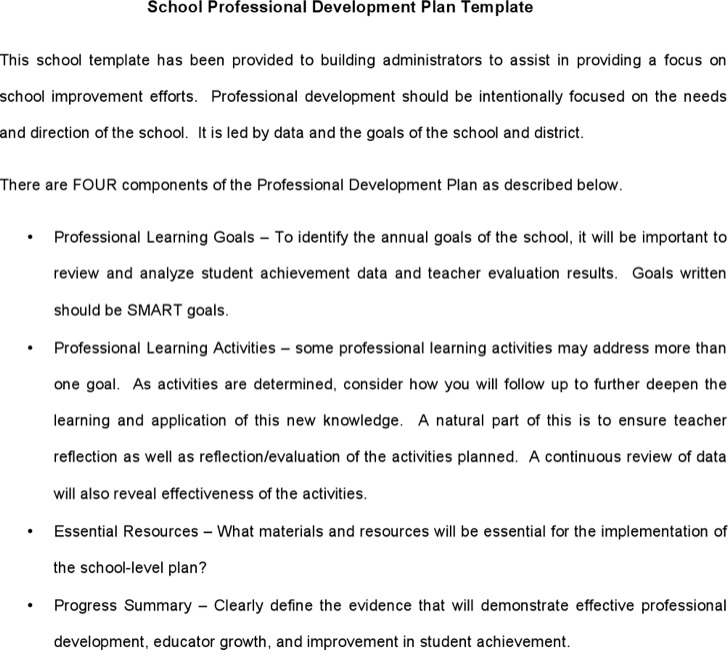 Primary School Development Plan Template