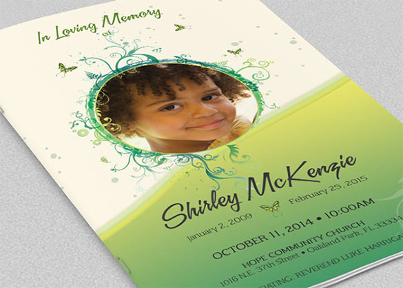 Princess Funeral Program Brochure Template