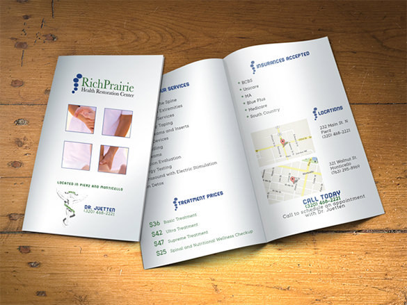 Print Design Chiropractic Brochure Template