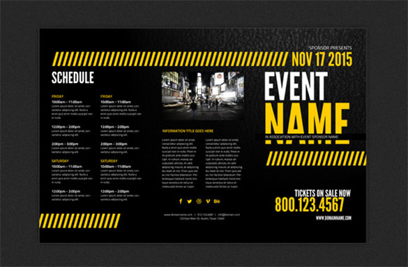 Print-Ready Event Brochure Template - $4.99