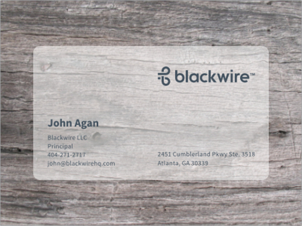 Print Transparent Business Card