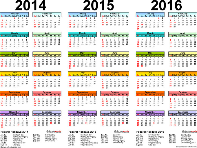 Printable Academic Calendar Template