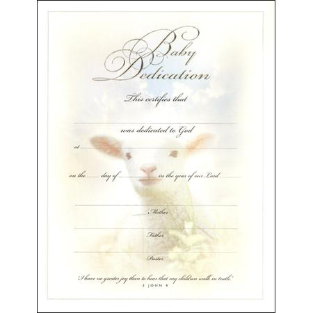 Download Baby Dedication Certificate Template for Free - TidyTemplates