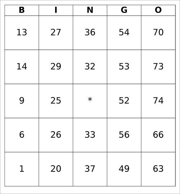 Printable Bingo Free