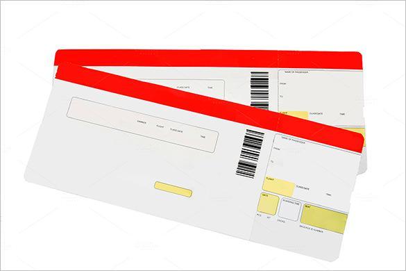 Printable Blank Travel Ticket Download