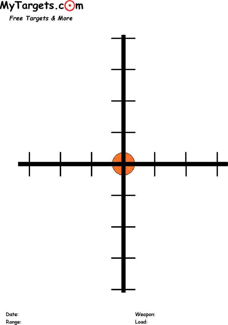 Printable Crosshairs Target