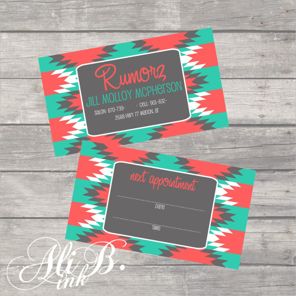 Printable Funky Business Card Template