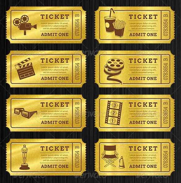 Printable Golden Tickets Templates Bundle