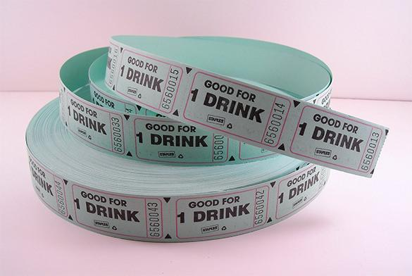 Printable Green Drink Tickets Role