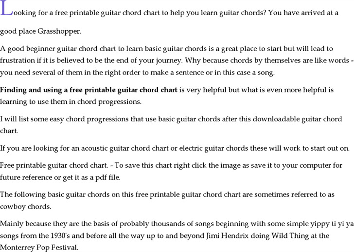 image regarding Printable Guitar Chords Chart Pdf titled guitar chord chart printable -