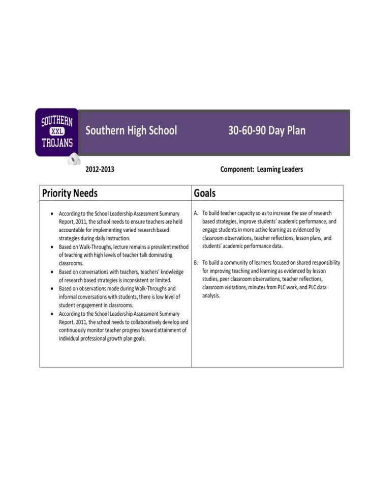 Printable Loan Officer 30-60-90 Day Plan PDF Download