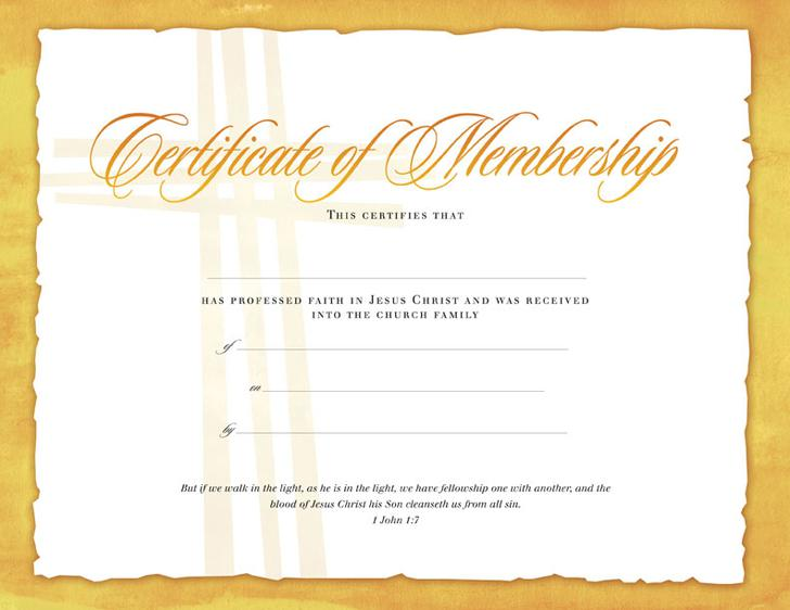 Printable Membership Certificate Template