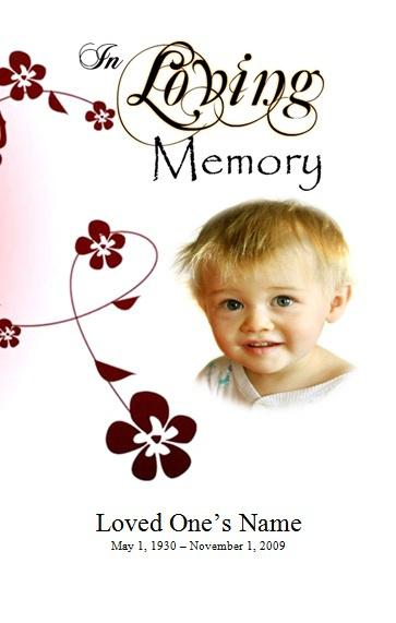 Printable Obituary Program Photoshop Template