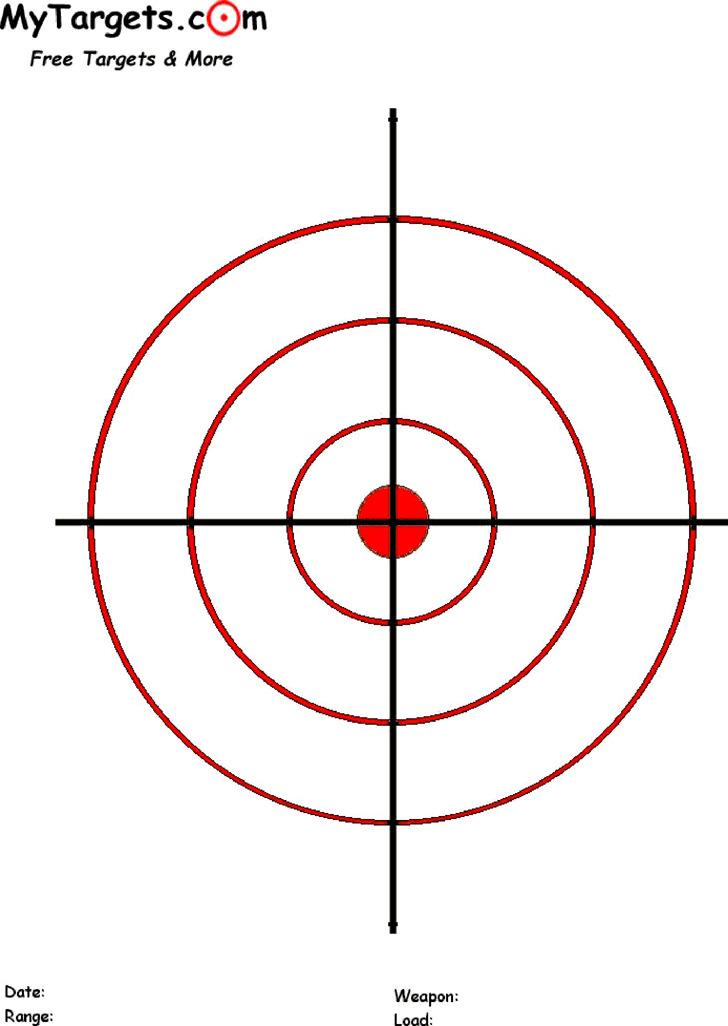 Printable Red Circles Target
