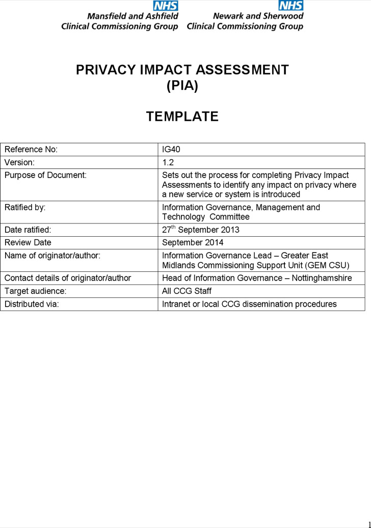 Download Impact Assessment Templates for Free - TidyTemplates