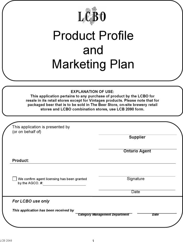 Product Profile Marketing Plan