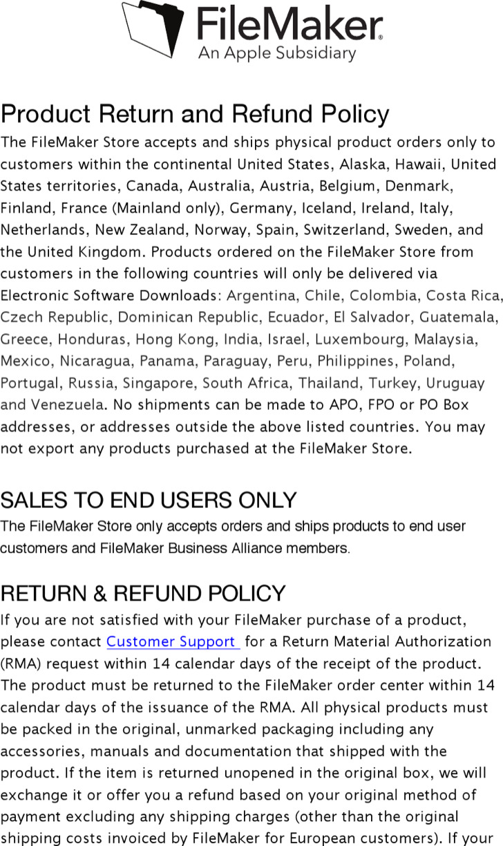 Product Return And Refund Policy