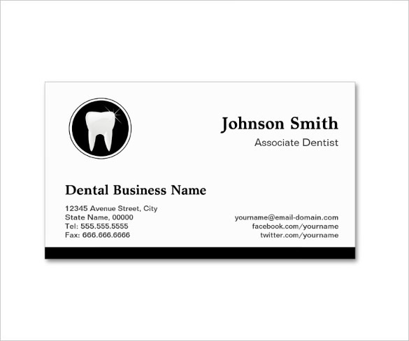 Professional Dentist Appointment Business Card