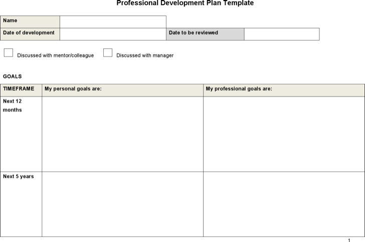 Professional Development Plan Template