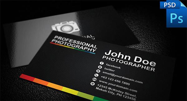 Professional Photography Business Card Template