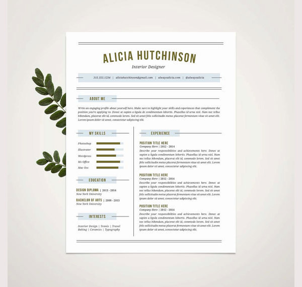 Professional Resume Template and Cover 1