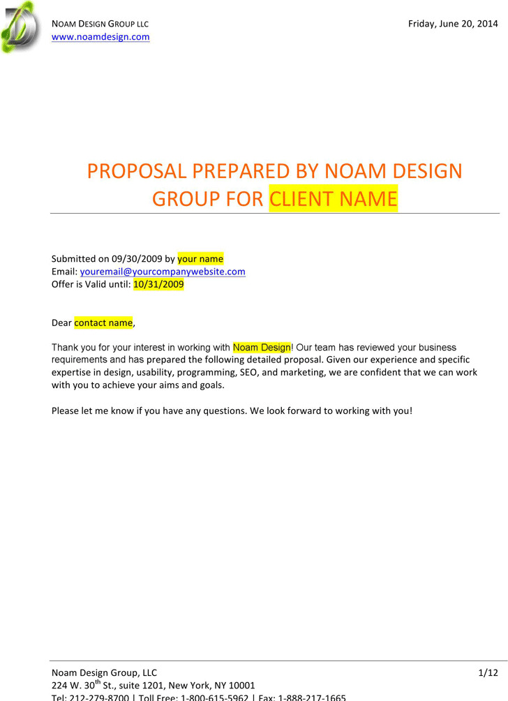 Professional Web Design Proposal Template