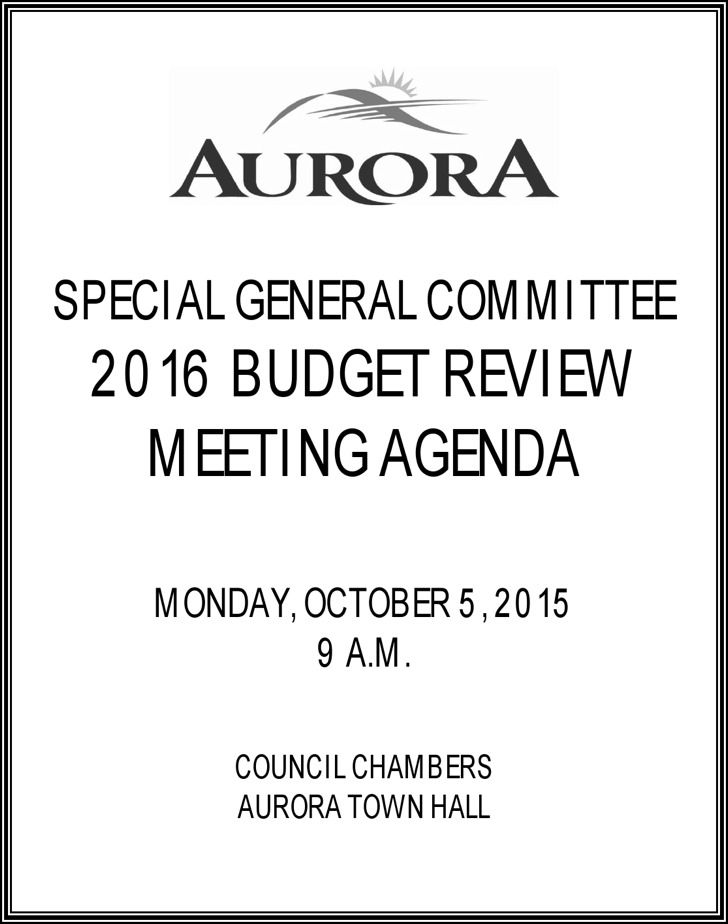 Project Budget Meeting Agenda Sample