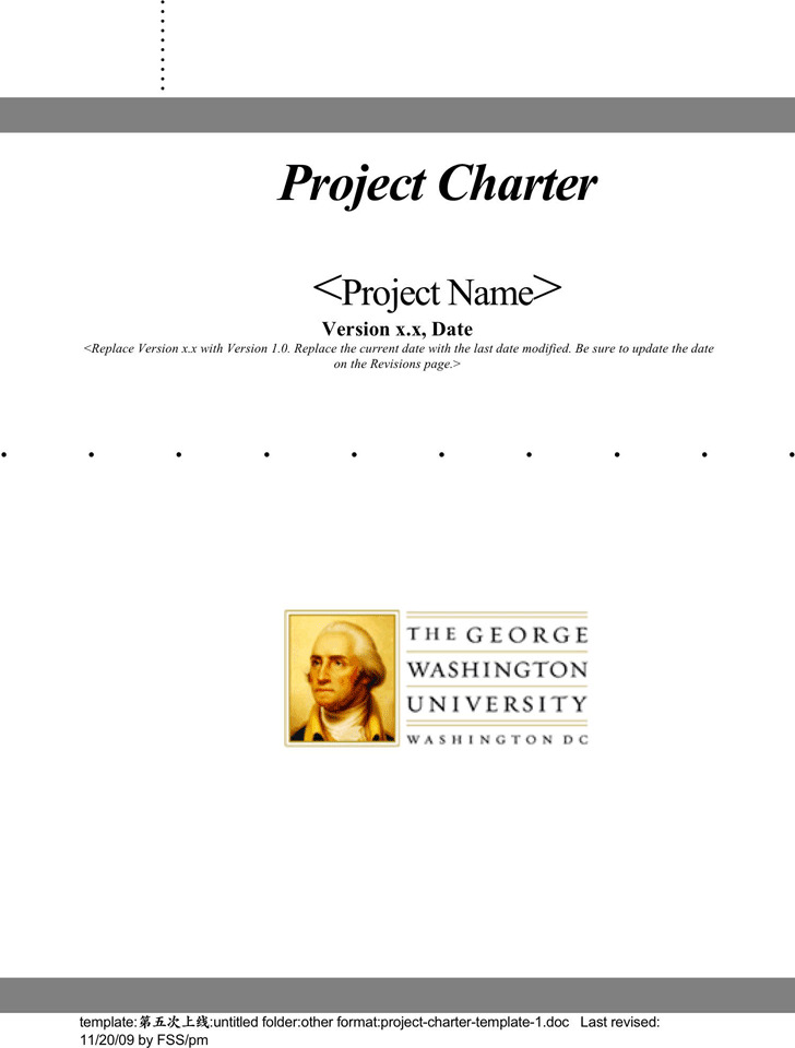Project Charter Template 1