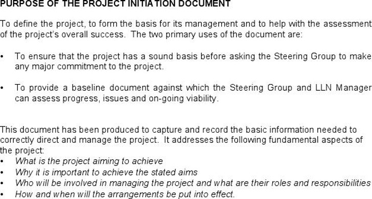 Project Initiation Document 1