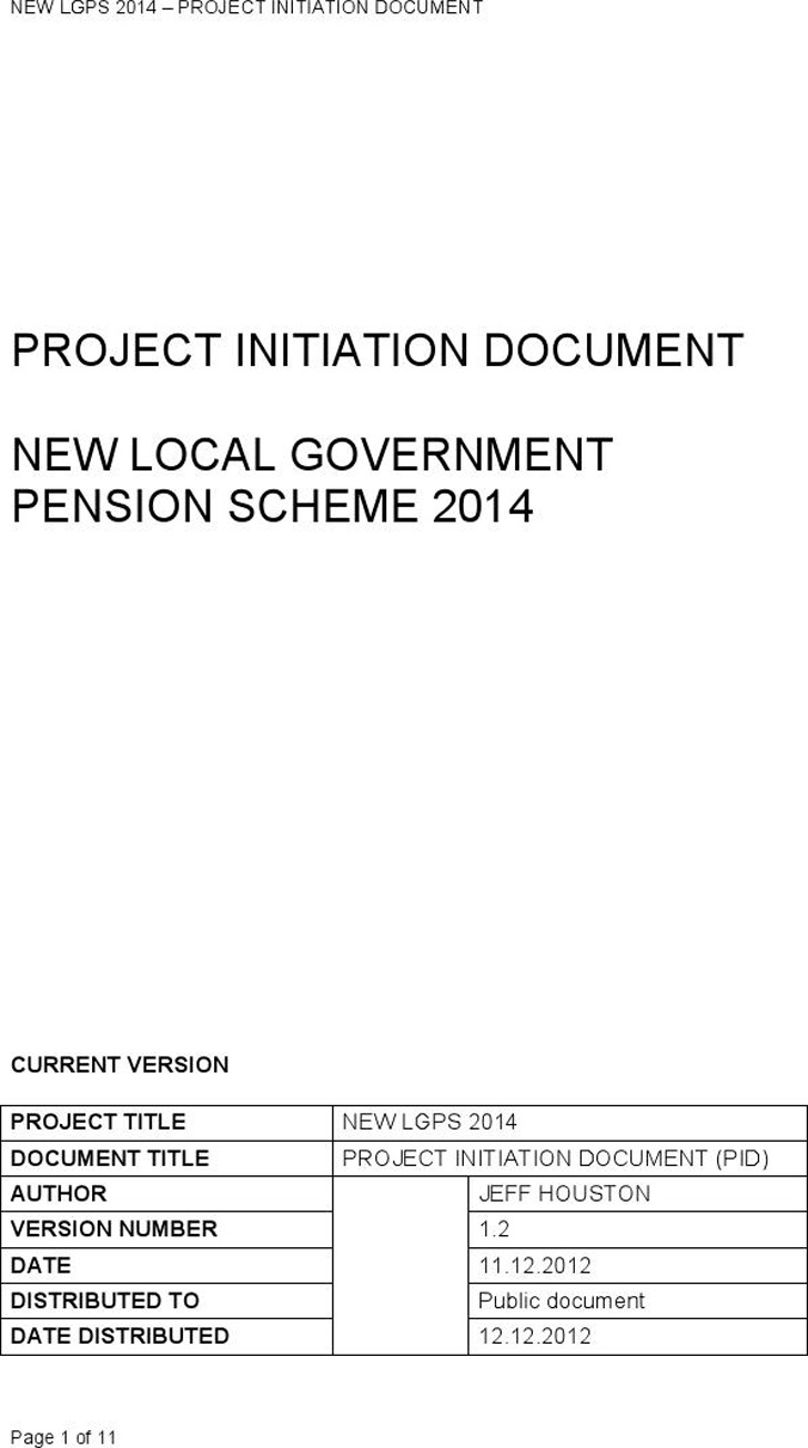 Project Initiation Document 2