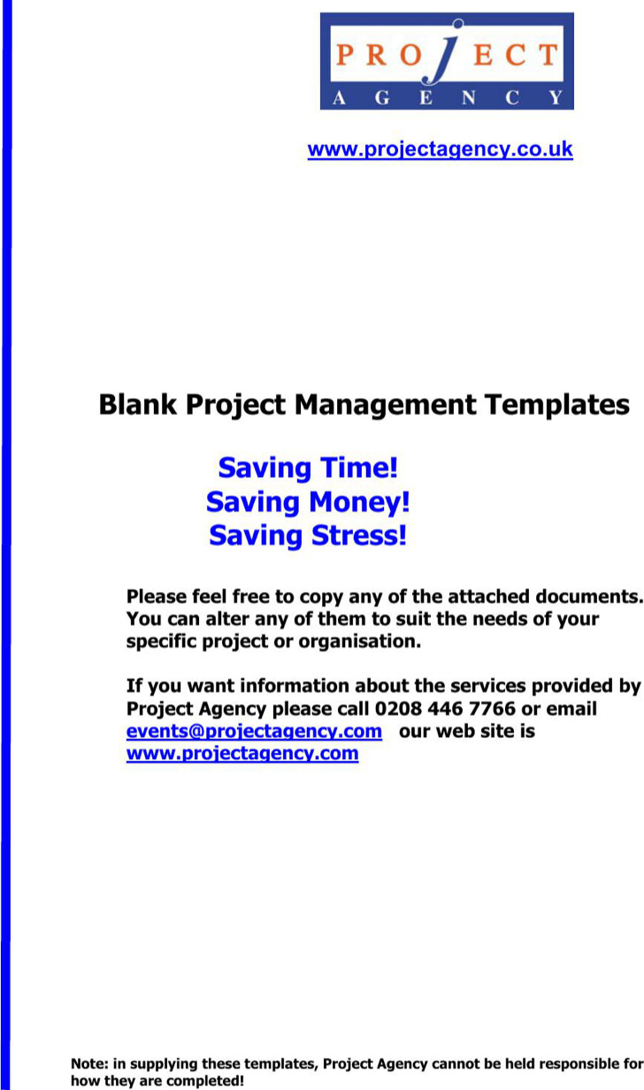 Project Management Spreadsheet Template