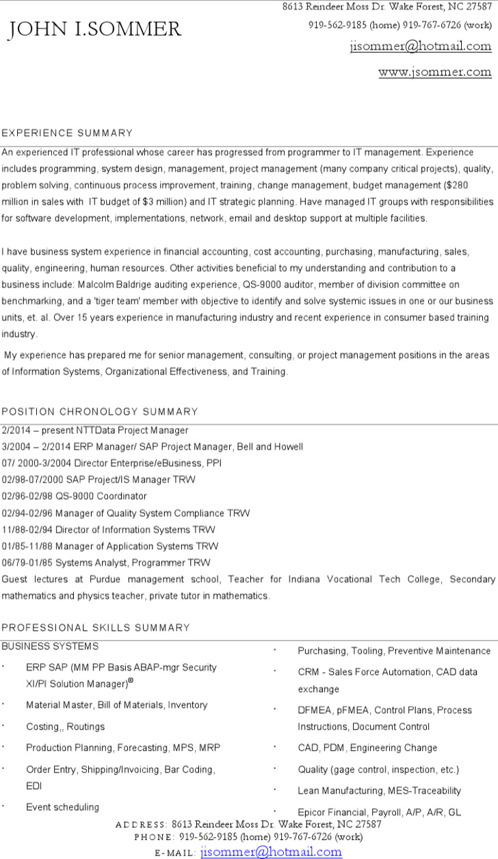 Download Project Manager Resume Template for Free - TidyTemplates