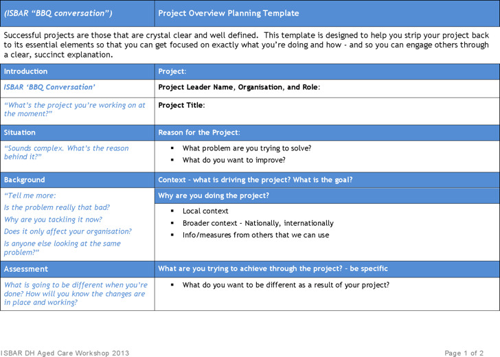 Project Overview Planning Template