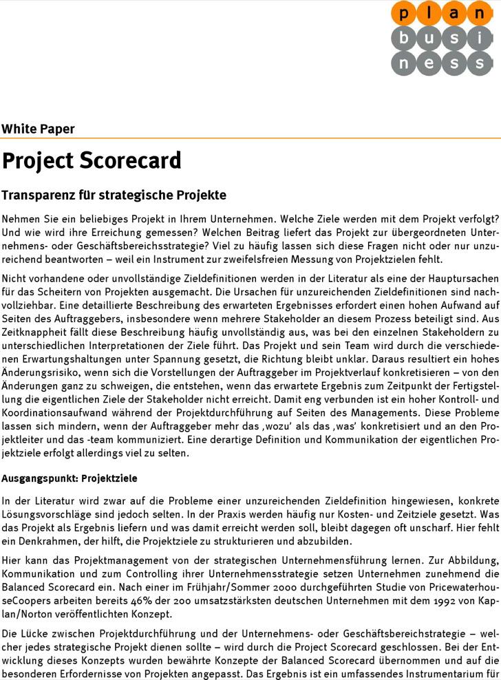 Project Scorecard Management Process0A