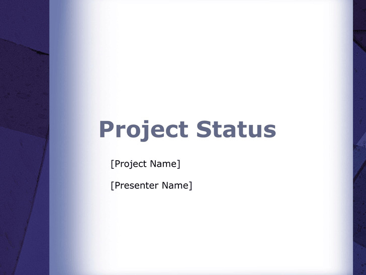 Project Status Report Template 3