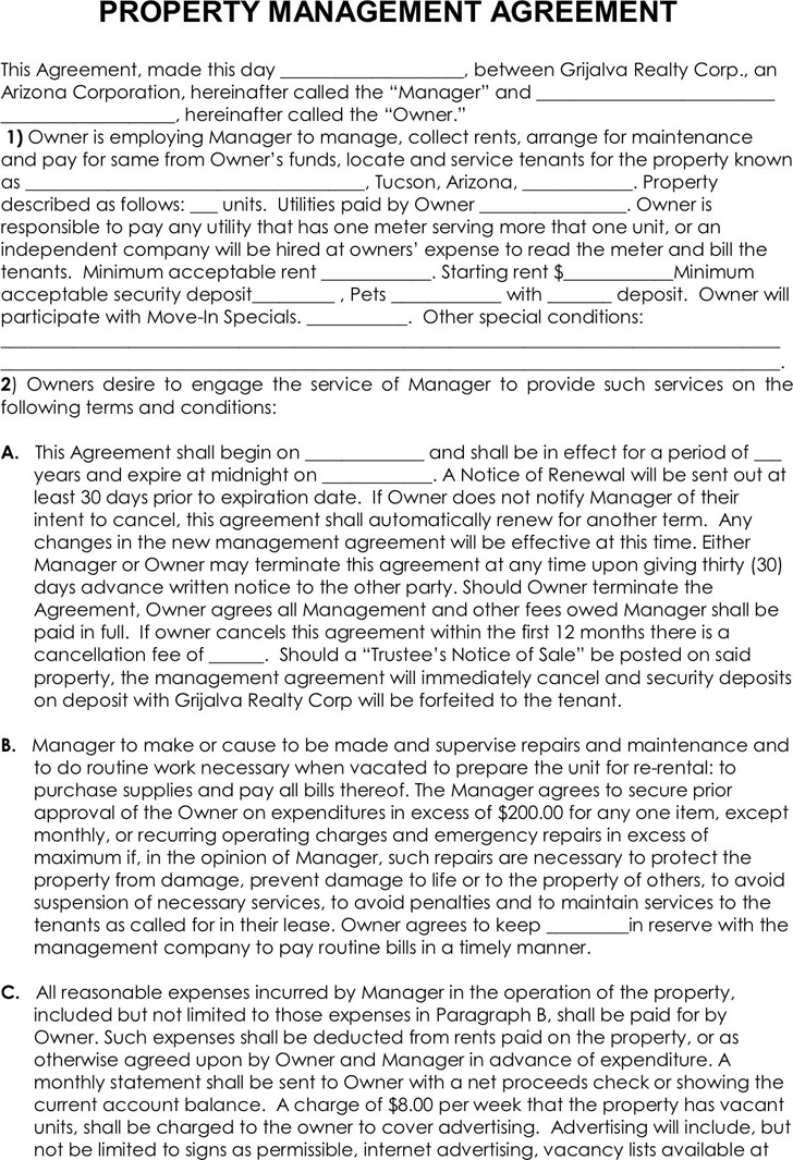 Property Management Agreement 3