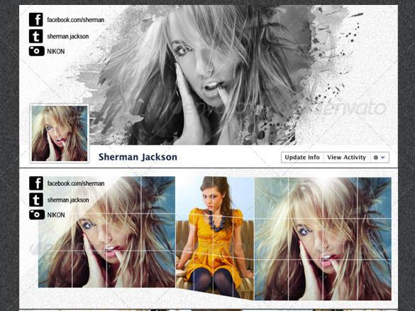 ProPhoto Artistic Facebook Timeline Cover PSD Template