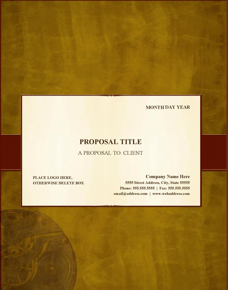 Proposal (Traditional Elegance Design)