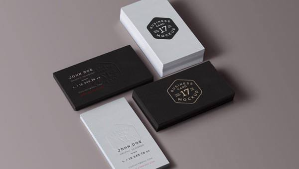 PSD Business Card Mock Up Vol 17