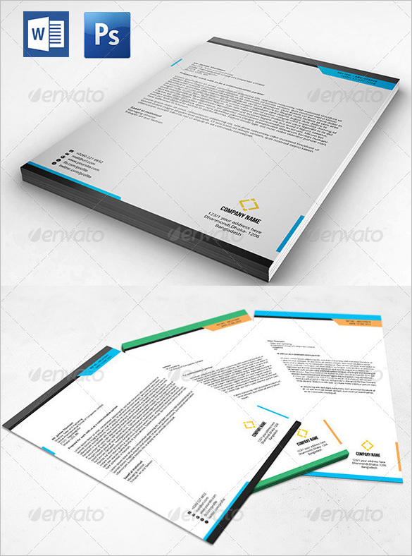 PSD Clean Letterhead with Massive Look - $4
