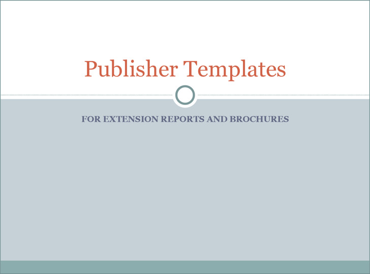Publisher Templates